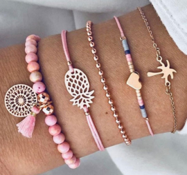 Set armbandjes SUMMER Blue/Pink