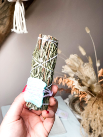 Rosemary-Amazonite Smudge-stick