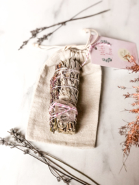 Lavender-Rose Quartz Smudge-stick