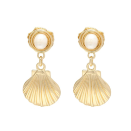 Earrings SHELL Gold/Silver