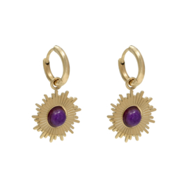 Charoïet Sun Earrings