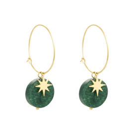 Malachiet Star Earrings