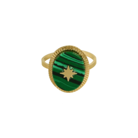 Malachiet Star Ring