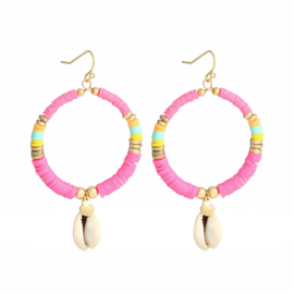 Earrings POWER TO THE SUN Lichtroze/Mint/Roze