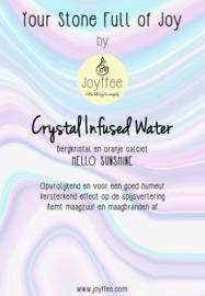 Crystal Infused Water Stones: HELLO SUNSHINE