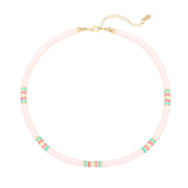 Ketting RIDE THE WAVES Lichtroze/Mint/Lila/Roze