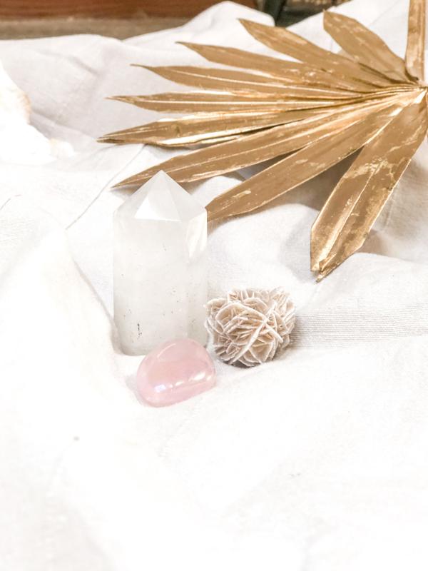 SWEET LOVE (met Cotton Candy Aura kwarts)-set