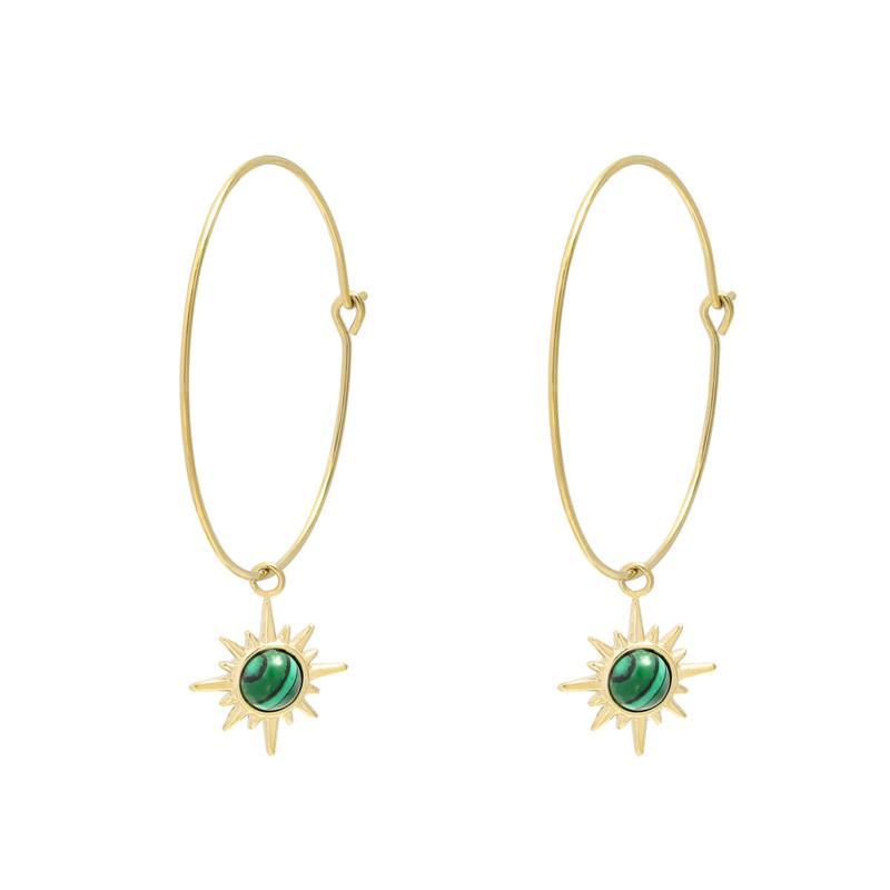 Malachiet Hoop Earrings