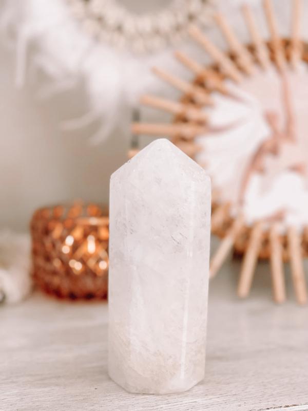 Bergkristal punt XXL ♡ ZUIVEREND