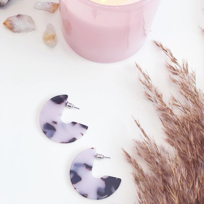 Rose Leopard Earrings