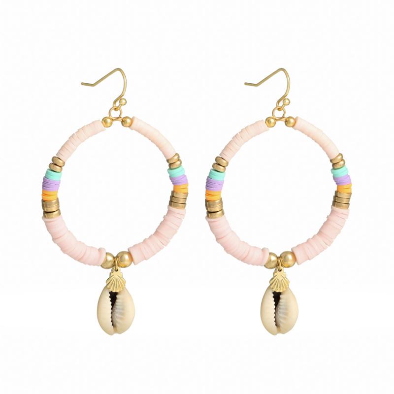 Earrings POWER TO THE SUN Lichtroze/Mint/Roze
