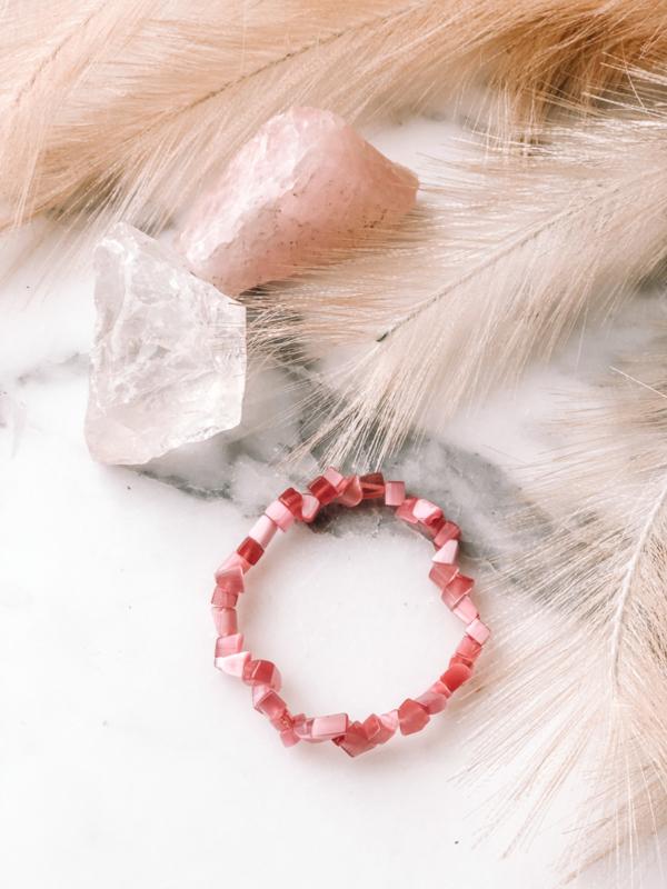 KIDS-armbandje: Roze Chinese Kattenoog