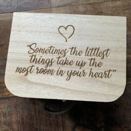 Geboortekoffertje  met quote | hout