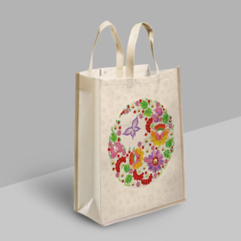 Diamond Painting Tas Shopping Bag  Lente Bloemen