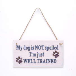 Diamond Painting Hanger hout My dog is...
