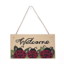 Diamond Painting Hanger hout Welcome