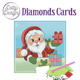 Diamond Painting Kerstkaart  Santa