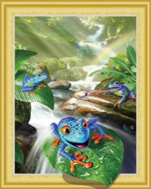 3D Diamond Painting Surfing Frog 40x50
