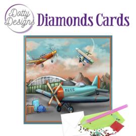 Diamond Painting kaart Planes