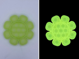 POP-IT Fidget Rage Game TIK TOK Hype bloem geel Glow in the Dark
