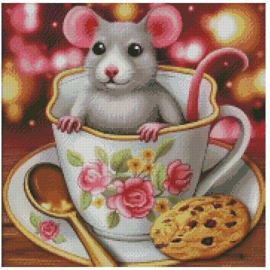 Diamond Painting Miss Coccinelle Koffie Tijd...  50x50