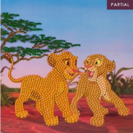 Diamond Painting Disney kaart The Lion King Simba & Nala