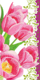 Diamond Painting Wenskaart  Pink Tulips