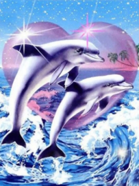 Diamond Painting ML Dolfijnen