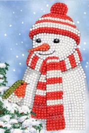 Diamond Painting Wenskaart Cosy Snowman
