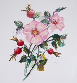 Diamond Painting - FREYJA - Wild Rose- partial