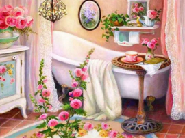 Diamond Painting ML Budget Bathroom