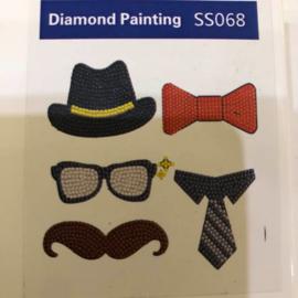 Diamond Painting Stickerset Man