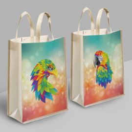 Diamond Painting Tas DUO Shopping Bag Papegaai