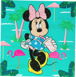 Diamond Painting Disney kaart Minnie on Holiday