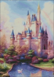 Diamond Painting Miss Coccinelle  Disney Kasteel  50x70