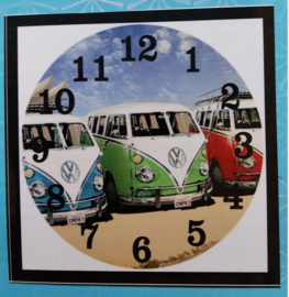 Diamond Painting  klok VW Busjes
