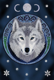 Diamond Painting Crystal Art Notebook Lunar Wolf by  Anne Stokes