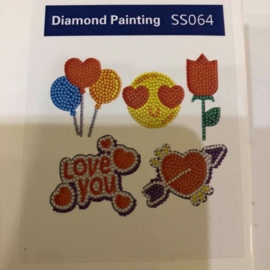 Diamond Painting Stickerset Love