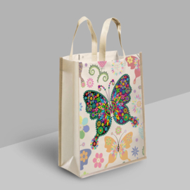 Diamond Painting Tas Shopping Bag  Vlinder