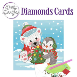Diamond Painting Kerstkaart  Christmas Friends
