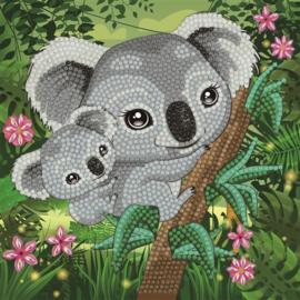 Diamond Painting Wenskaart Koala Hugs