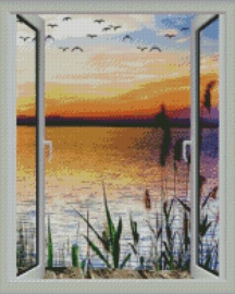 Diamond Painting Miss Coccinelle Lake View  50x70