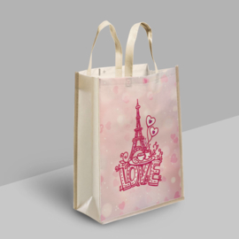 Diamond Painting Tas Shopping Bag  LOVE Eifeltoren