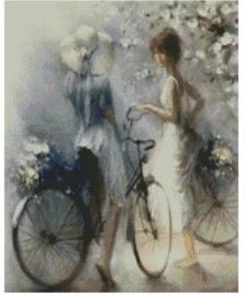 Diamond Painting Miss Coccinelle  Fietstochtje  40x50
