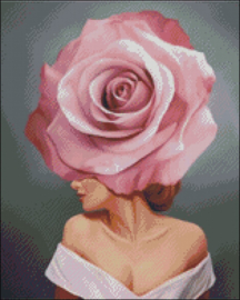 Diamond Painting Miss Coccinelle Flower  Lady  40x50