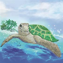 Diamond Painting Wenskaart Turtle Paradise