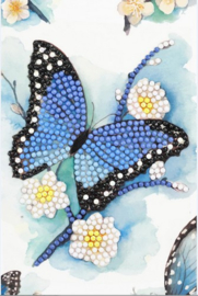 Diamond Painting Wenskaart  Blue Butterfly