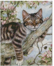 Diamond Painting Miss Coccinelle  Poes in Boom 40x50