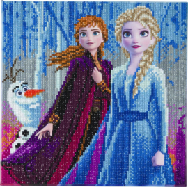 Diamond Painting Disney  Elsa, Anna and Olaf  30 x 30