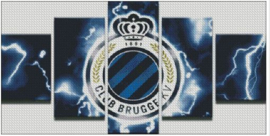 Diamond Painting Miss Coccinelle 5-luik Club Brugge